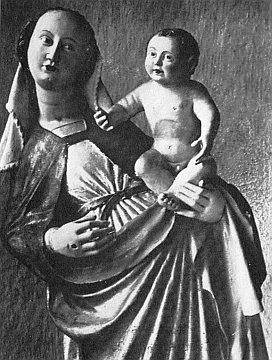 Madona kájovská z doby kolem roku 1420