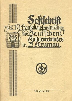 Obálka (1938) knihy, v níž vyšla jeho studie