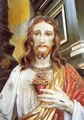 Socha Nejsvětějšího Srdce Ježíšova zkostela v Hostouni