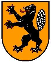 Rakouská obec Schönegg vokrese Rohrbach blízko hraničního přechodu Guglwald má ve znaku bobra
