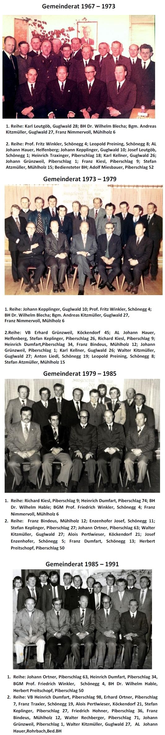 Od roku 1967 byl radním a pak do roku 1991 i starostou obce Schönegg na dosah české hranice (viz i Hubert Hehenberger)