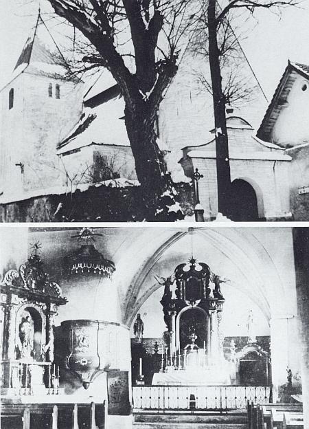 Kostel v Albrechticích a jeho interiér