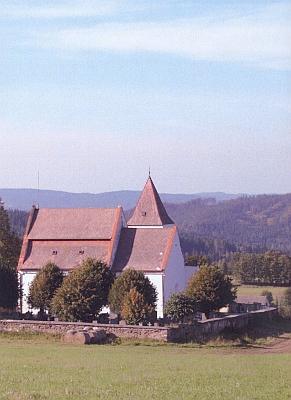 Kostel v Albrechticích na novějších snímcích Hanse Schopfa a Josefa Erharta