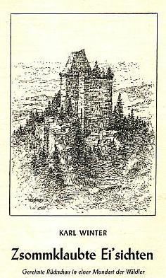 Obálka vlastním nákladem vydané knihy (1972) skresbou hradu Kašperka od Aloise Bienerta