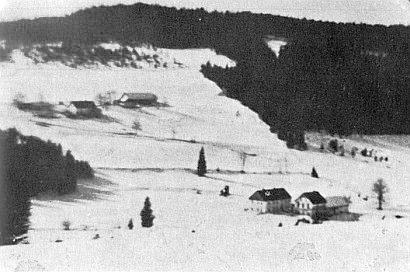 """Horní mlýn a hostinec  """"U Obřího hradu"""" (""""Zum Riesenschloss""""), rodný dům Wilhelma Wintera"""