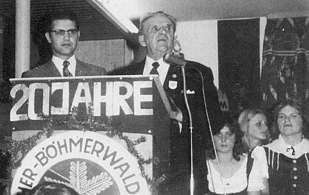 S Johannem Jodlem ve Schrobenhausen při oslavě jubilea místní skupiny sdružení DeutscherBöhmerwaldbund