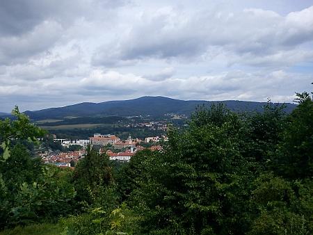 ... a pohled z ní na Český Krumlov