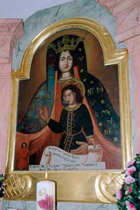 Kopie obrazu Panny Marie Klatovské ve farním kostele v Nemanicích