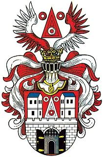 Znak jeho rodného města Planá (Plan)