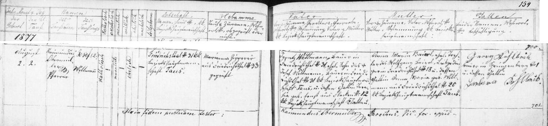 Podle tohoto záznamu v křestní matrice farní obce Hyršov narodil se v téměř dnes zaniklé osadě Chalupy na stavení čp. 31 rolníku Ignatzi Wittmannovi (synu hospodáře na téže usedlosti před ním Josefa Wittmanna a Teresie, roz. Ernstové z rovněž dnes téměř zaniklých Fleků čp. 12) a jeho ženě Anně Marii, dceři Wolfganga Baierla z Chalup čp.18 a Anny Marie, roz. Wittmannové z Chalup čp.20