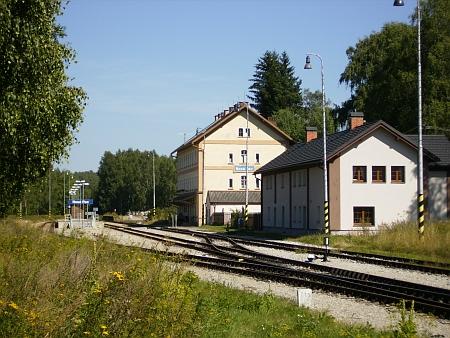 Někdejší nádraží Želnava - dnes Nová Pec