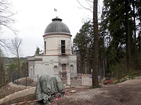 V roce 2014 právě rekonstruovaný památník bitvy u Lipska poblíž Českého Krumlova