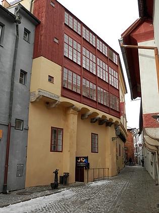 Dům čp. 59 v českokrumlovské Masné ulici na snímcích z roku 2018