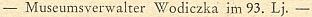 Jedna věta provázela budějovické úmrtí jeho otce roku 1952 v 93 letech věku na stránkách únorového čísla krajanského měsíčníku v roce 1953