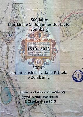Obálka (2013) knihy k 500. výročí žumberského farního kostela