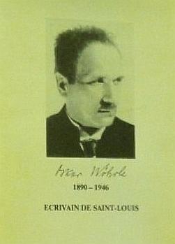Na obálce knihy Oskar Wöhrle (1890-1946). Ecrivain de Saint-Louis vydané Association d'Action Culturelle Cultur'A v roce 1990