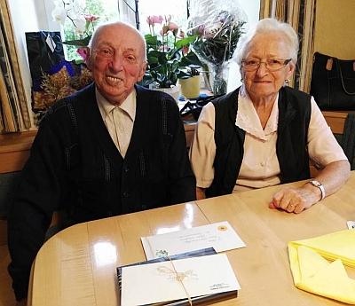 S manželkou Leopoldine při oslavě 85. narozenin