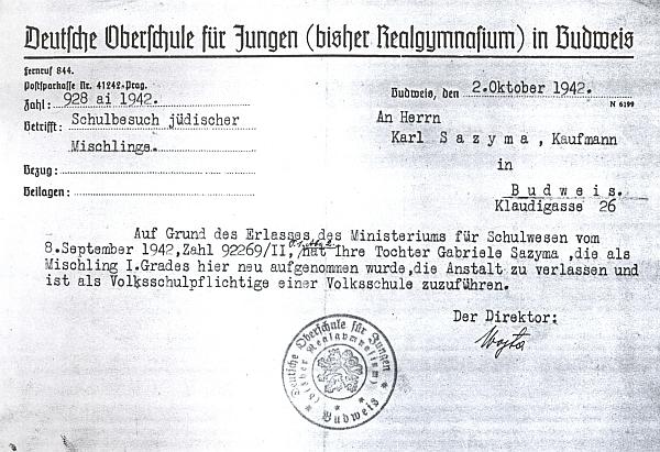 Dokument z roku 1942 nese jeho podpis