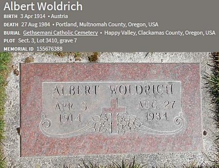 Hrob jejího otce na katolickém hřbitově v Happy Valley