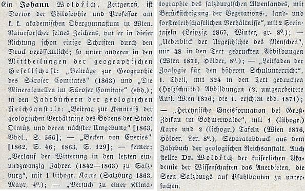 O něm ve Wurzbachově životopisném lexikonu osobností císařství rakouského