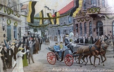 Ještě jednou na staré nejen kolorované, nýbrž i značně dokreslované pohlednici