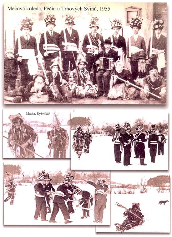 """Dokumentace tzv. """"mečové koledy"""" z roku 1955 v Pěčíně u Trhových Svinů"""