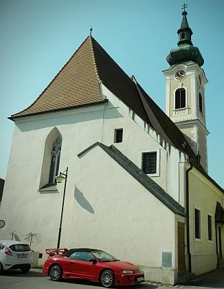 Farní kostel sv. Ruperta v Traismauer, kde zemřel a je pochován