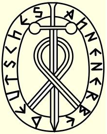 "Emblém ""vědecké společnosti"" Deutsches Ahnenerbe des SS Heinrich Himmler"