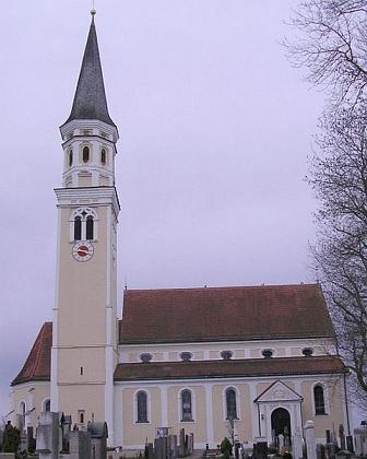 Hřbitov v Odelzhausen, kde je pochován po boku své ženy při zdejším kostele sv. Benedikta
