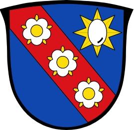 Znak obce Odelzhausen v bavorském zemském okrese Dachau
