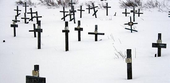 Hřbitov ve Vorkutě