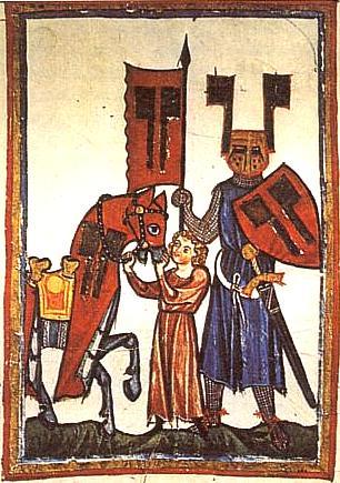 Zpodobení básníka jako rytíře v Codex Manesse (1. pol. 14. stol.)