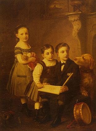 Tři děti darmstadtské rodiny Otto a Lilli Wolfskehlových Karl, Eduard a Margarete, znichž Karlův mladší bratr Eduard zahynul roku 1944 v nacistickém koncentračním táboře