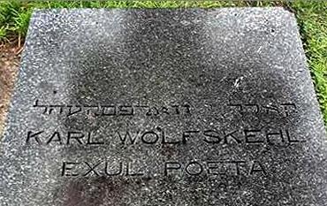 Hrob Karla Wolfskehla v Aucklandu na hřbitově Waikumete Cemetery