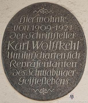 Pamětní deska na domě v mnichovské ulici Römerstraße čp. 16