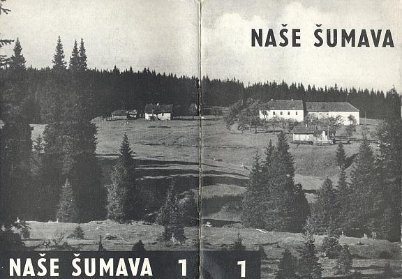 Obálka (1969) jediného čísla časopisu Naše Šumava...