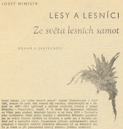 ... a úvod článku Josefa Ministra i o něm
