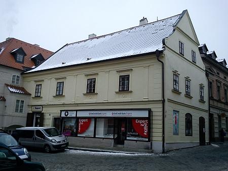 Dům čp. 76 na českokrumlovském Latráně, kde jeho žena zemřela