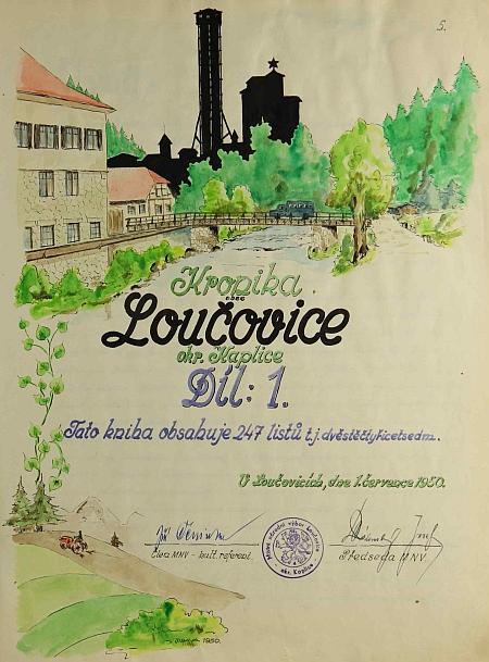 """List z kroniky Loučovic už """"znárodněných"""""""