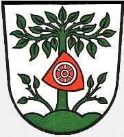 Znak města Buchen (Odenwald), kde skonal akde je i pochován