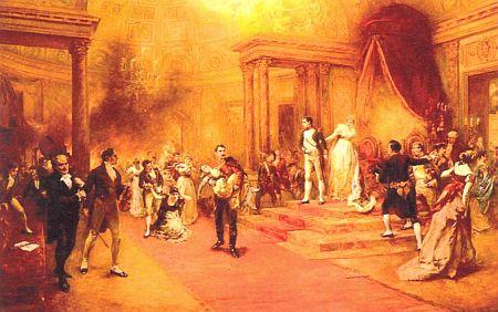 Požár, při němž zahynula roku 1810 kněžna Paulina, těhotná s již desátým svým potomkem, zachytil tento obraz R.A. Hillingforda