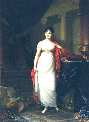 Kněžna Paulina, choť Josefa II. zu Schwarzenberg, zachycena na posmrtném portrétu Ch.L.Phillipota