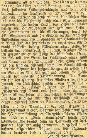 """Jedna z jeho zpráv z """"Krummau an der Moldau"""""""