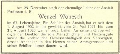 Parte na stránkách výroční zprávy německého učitelského ústavu vČeských Budějovicích
