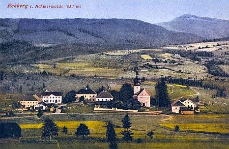 Šumavské Srní na staré pohlednici