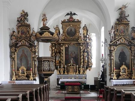 Socha sv. Wolfganga a oltář poutního kostela ve St. Wolfgang am Stein nad Aigenem z roku 1644 jsou rovněž jeho dílem