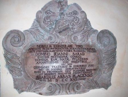 Náhrobní kámen v aigenském kostele