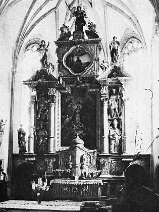 Hlavní oltář kostela ve Frymburku z roku 1657 je rovněž jeho dílem