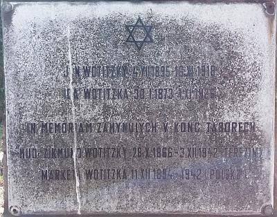 Rodinný hrob na židovském hřbitově v Českých Budějovicích