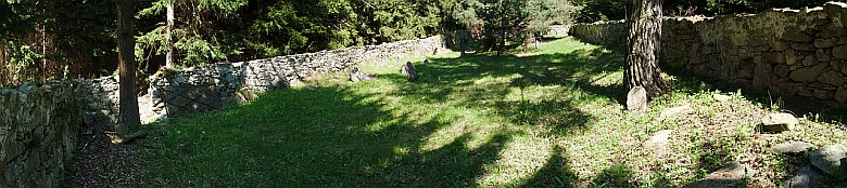 Hřbitov v Hošticích od jihu